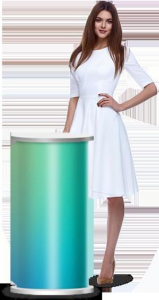 Kulatý prezentační stolek